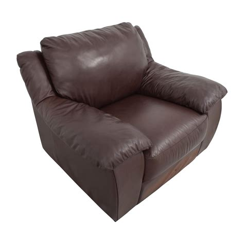 Plush Leather by 84 Italsofa Italsofa Brown Leather Plush Armchair