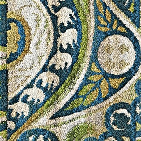 Rug Blue Green by Blue And Green Swirls Rug