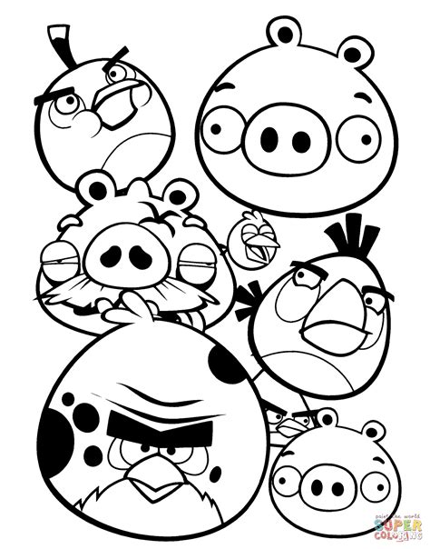 angry birds coloring page free printable coloring pages