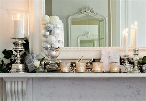 Christmas Home Interiors by White Mantle Decorations Christmas Pinterest