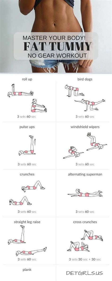 best 25 flat tummy workout ideas on tummy
