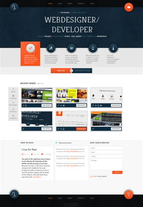 web layout design online 40 inspirational exles of orange color in web design