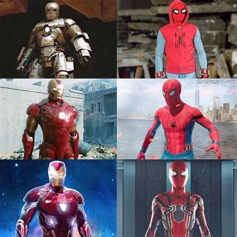 evolution iron man spiderman