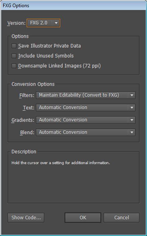 adobe illustrator cs6 not opening fxg format illustrator cs5 5 cs6