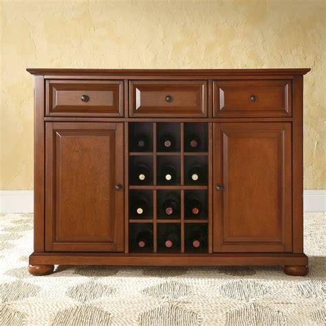 Cherry Sideboard Furniture shop crosley furniture alexandria classic cherry sideboard with wine storage at lowes