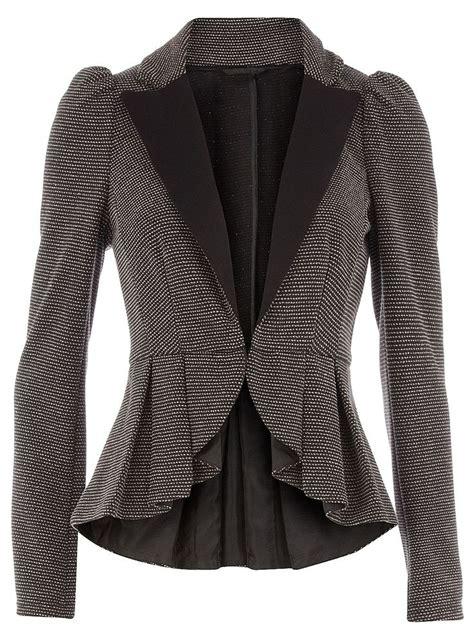 Peplum Jacket grey textured peplum jacket tuesday s two pieces