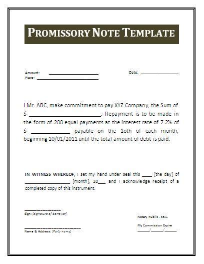 vehicle promissory note template free metro map of promissory note templates
