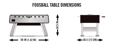 size foosball table foosball table dimensions foosball zone