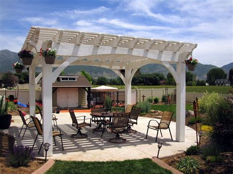 14 Wonderfully White Outdoor Shade Structures Western Timber Frame Pergola Kits