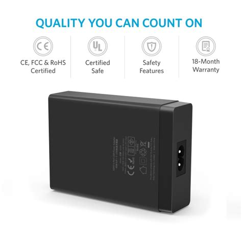 Anker Powerport 60w 10 Port Usb Charger Black anker powerport 6 60w 12a 6 port usb charging hub