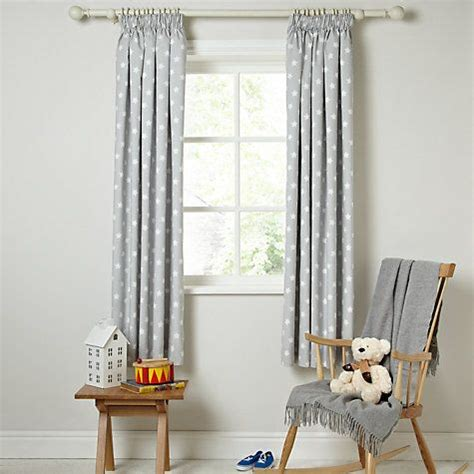 Buy Little Home At John Lewis Star Pencil Pleat Blackout Lewis Nursery Curtains