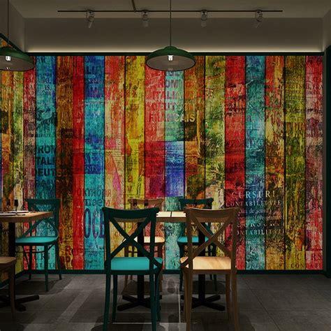wholesale multicolour wood doodle letter plank mural