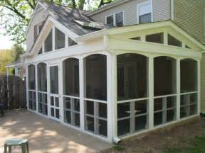 Screened Porch Plans by Screened In Porch Casual Cottage