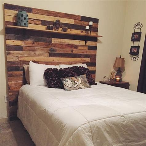 bed shelves headboard pallet bed headboard with shelves pallet ideas recycled