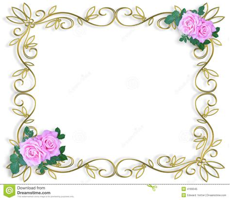 wedding clipart for invitations 7 best images of free printable wedding invitation borders