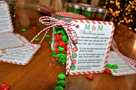m m christmas poem candy jar tutorial simple sojourns