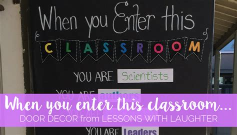 when you enter this classroom door decor lessons with