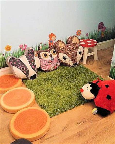 kids woodland bedroom wooden childrens kids toadstool stool fairy fairies