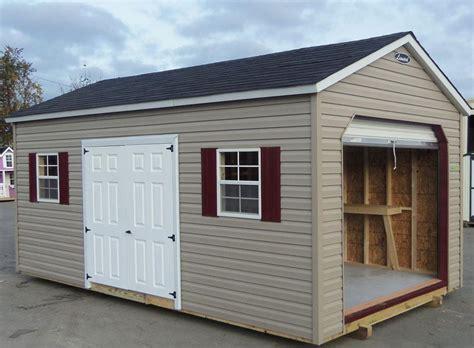 8x10 Garage Door Vinyl Storage Sheds Leonard Buildings Truck Accessories