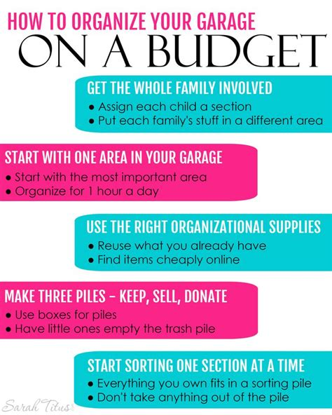 how to organize garage on a budget how to organize your garage on a budget to be places