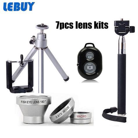 Tripod Tongsis Bluetooth 3 In 1 Fish Eye Lensa 3 In 1 7in1 phone lens kit 3in1 fish eye wide angle macro lens selfie stick monopod mini