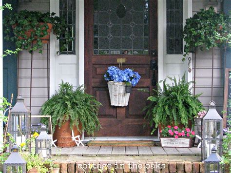 front porch decorating ideas summer front porch cottage in the oaks