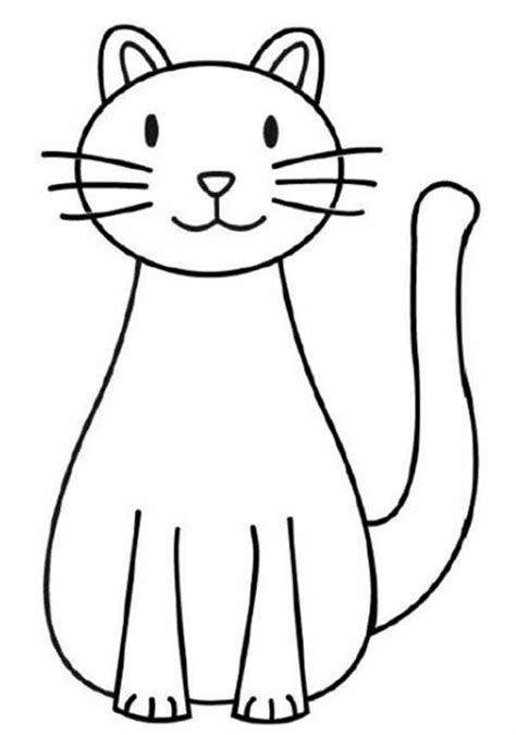easy to draw clipart simple cat drawing clipart best