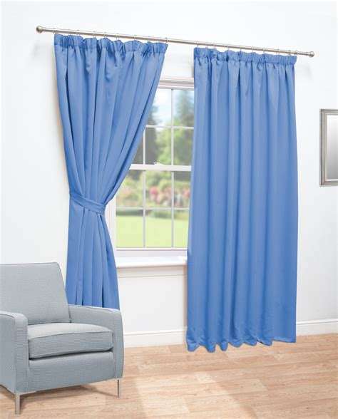 Blue Blackout Curtains Ready Made Curtains Blue Thermal Blackout Curtains Direct 2 U