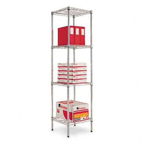 alera narrow profile wire shelving kit alesw501818sr
