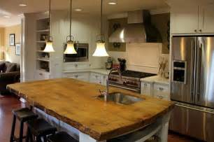 Wood Island Tops Kitchens Kitchen Island Solid Wood Countertop Decoist