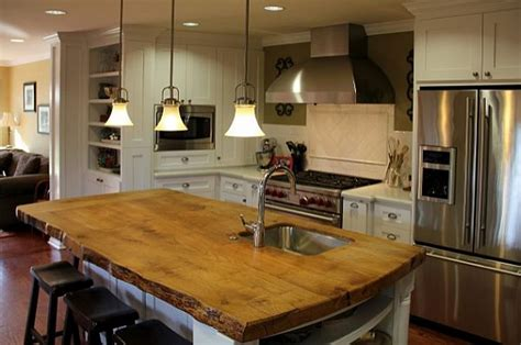 Countertop For Island by Kitchen Island Solid Wood Countertop Decoist