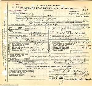 Us Hospital Record Of Birth Ted S S American Birth Certificate Revealed