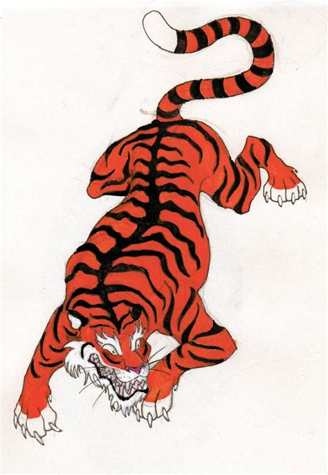 chinese tiger tattoo tiger drawing