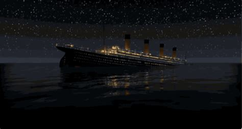 titanic boat sinking gif i like robots alpha beta gamer titanic honor and glory