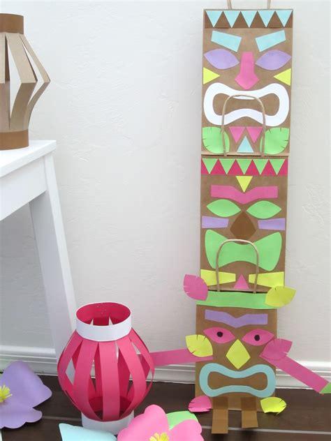 luau crafts for luau paper bag tiki design sprinkle