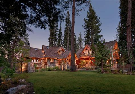 Wrap Around Deck Plans old tahoe house by ooa design style estate