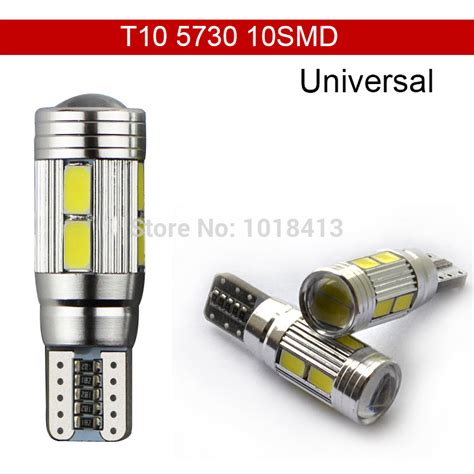 Cer Led Light Bulbs Car Auto Led T10 194 W5w Canbus 10 Smd 5630 5730 Led Light Bulb No Error Led Parking Fog Light