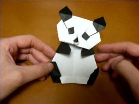 How To Make A Paper Panda - origami panda oragami
