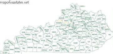 kentucky map by county kentucky county map map of usa states