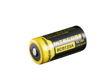 Nitecore Rcr123a Rechargeable Li Ion Battery 650mah 3 7v Nl166 Nitecore Rcr123a 650mah Rechargeable Li Ion Battery Nl166 3 7v Rcr123a Batteries In India