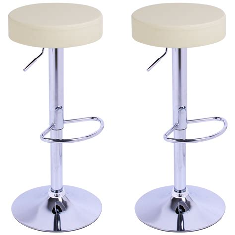 x bench stool 2 x bar stools kitchen chair swivel breakfast stool chrome