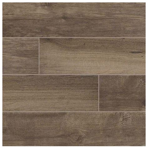 6 in x 36 in palmetto smoke glazed matte brown porcelain floor and wall tile 15 sq ft case