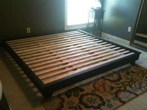 platform bed frame plans king plans diy