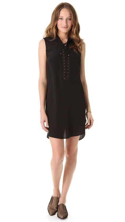 Derek Lam by 10 Crosby Derek Lam Lace Up Sleeveless Dress In Black Lyst