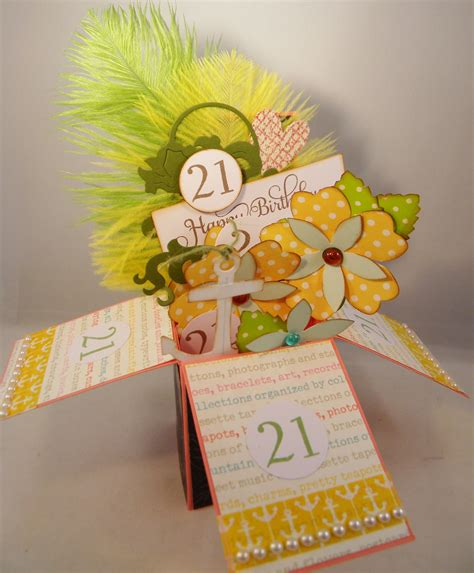 how to make a card box birthday card in a box scraps
