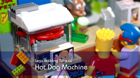 lego dog tutorial lego tutorial building the hot dog machine from the kwik