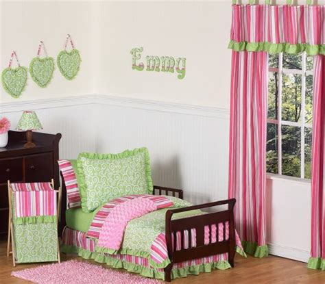 pink and green bedding d8hyhr pink and green boutique toddler bedding 5 pc set by swee