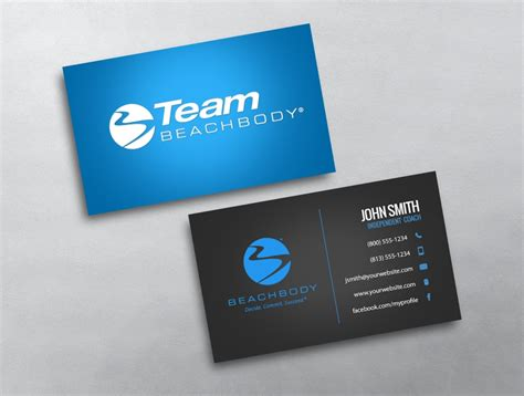 beachbody business cards templates beachbody business card 05