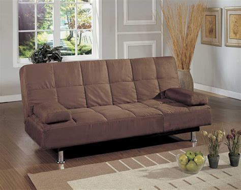 homelegance futon homelegance flex metal futon sofa brown 4787br