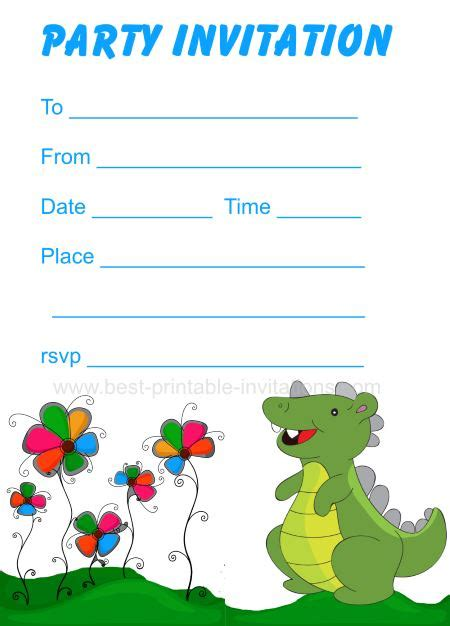 printable birthday cards dinosaur free printable dinosaur birthday invitations